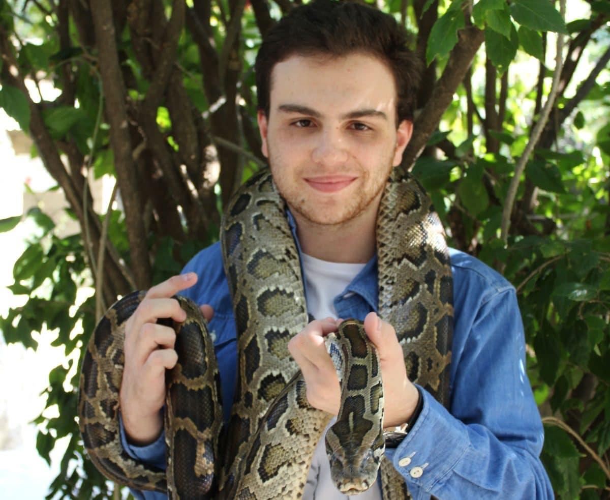 Ethan au centre des reptiles